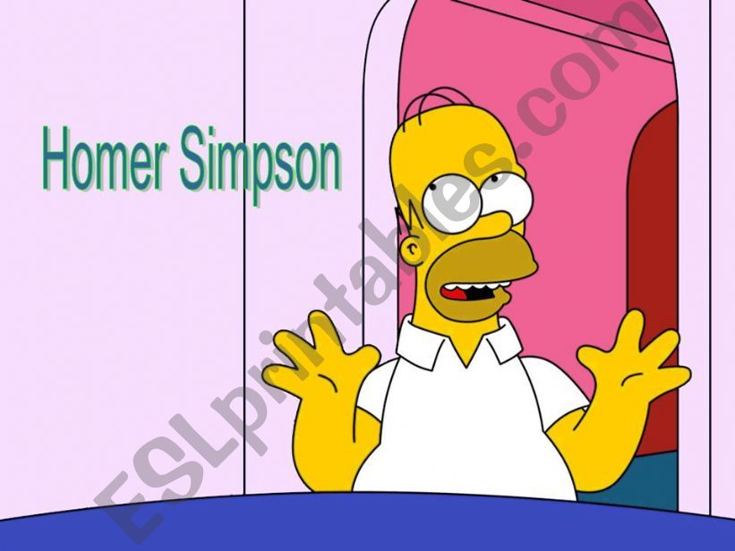 Simple Past-What did Homer Simpson do yesterday? Part 1