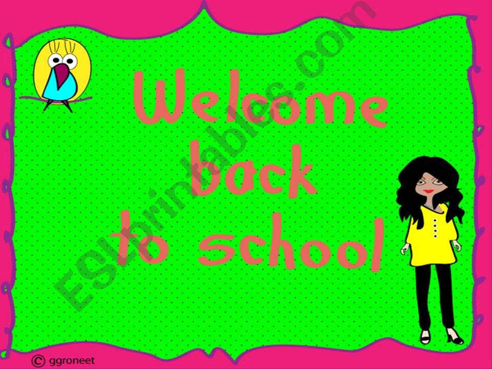 welcome back to school poster powerpoint
