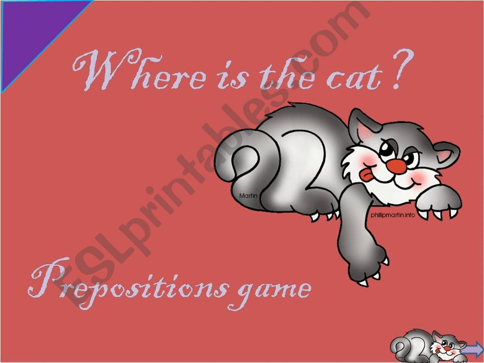 Prepositions Game - part 1 powerpoint