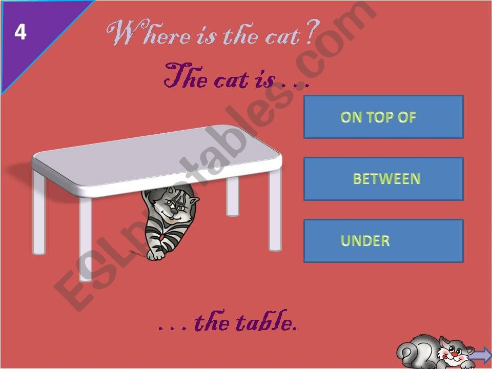 Prepositions Game - part 2 powerpoint