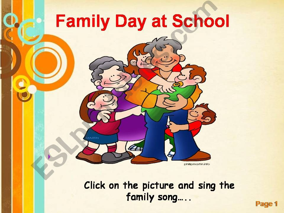 family day at school  powerpoint