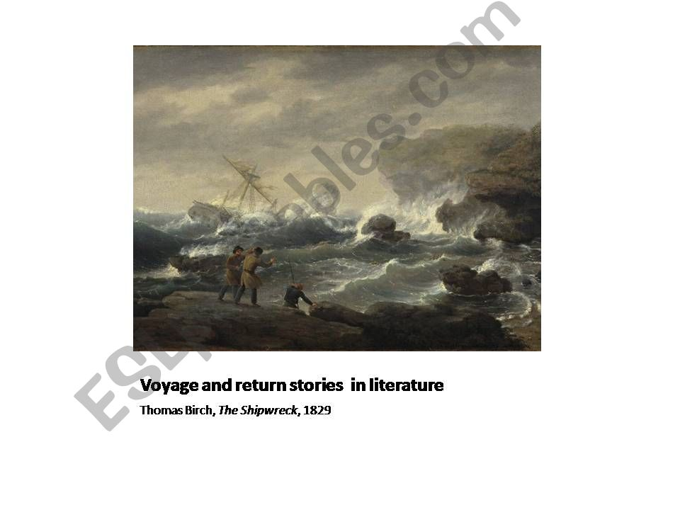 voyage and return stories in English  literature
