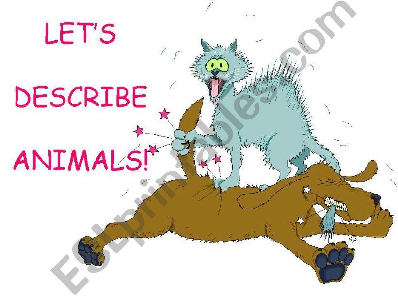 description of animals powerpoint