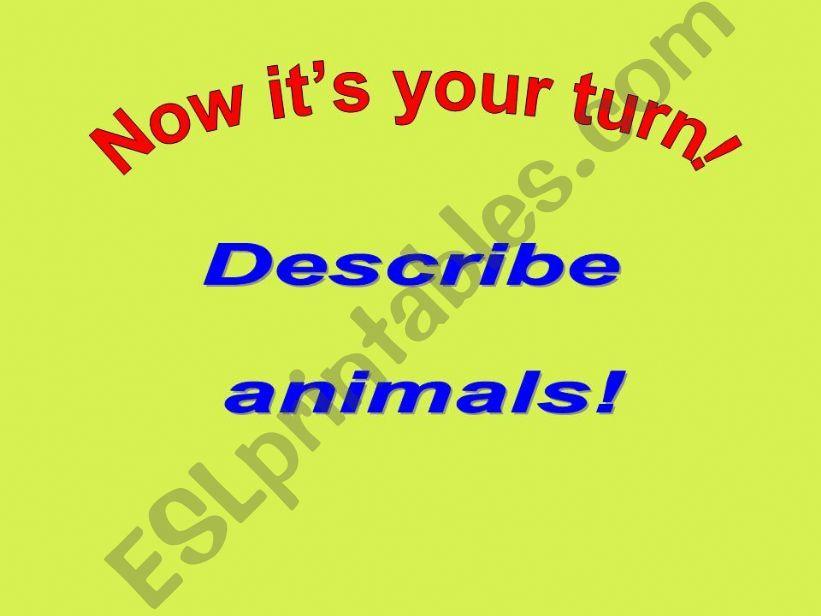description of animals Part 3 of 3