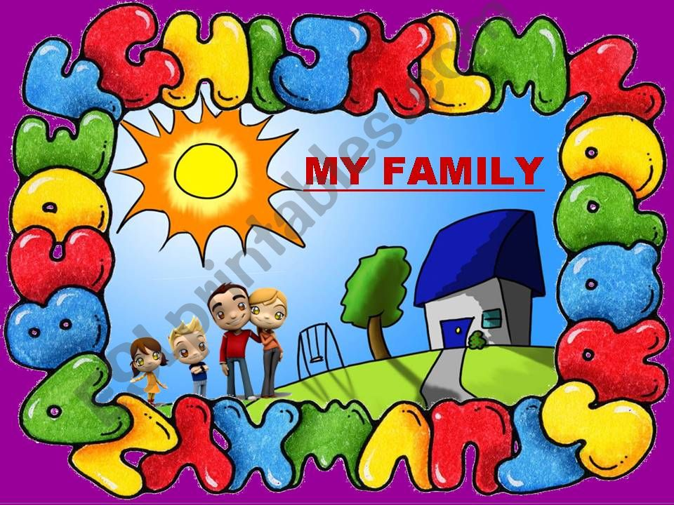 LISTENING COMPREHENSION - MY FAMILY (2) - with SOUND, ANIMATED