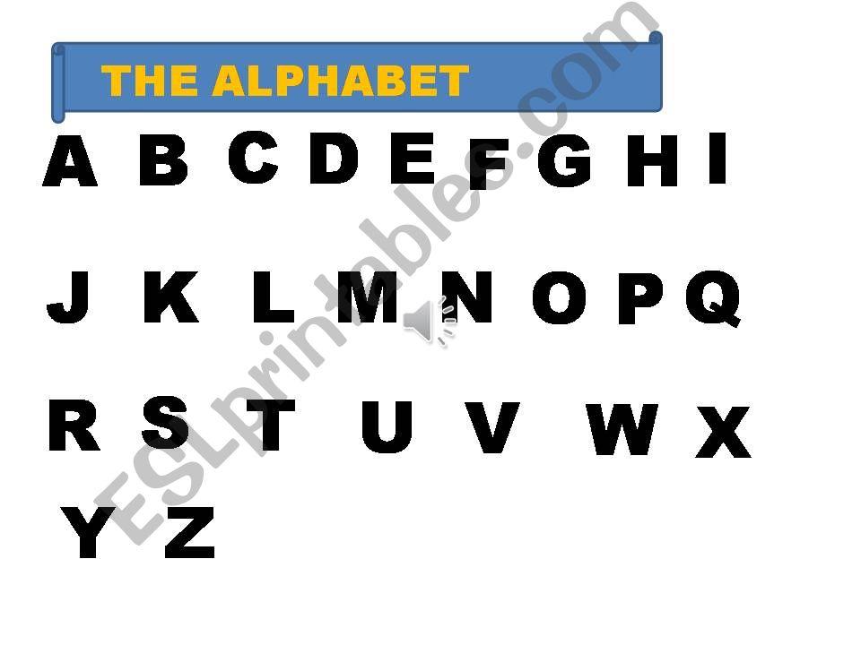 THE ALPHABET powerpoint