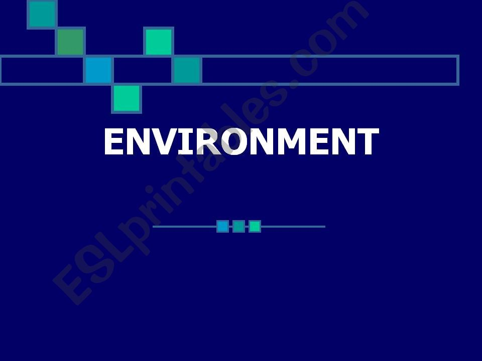 Environment Game powerpoint