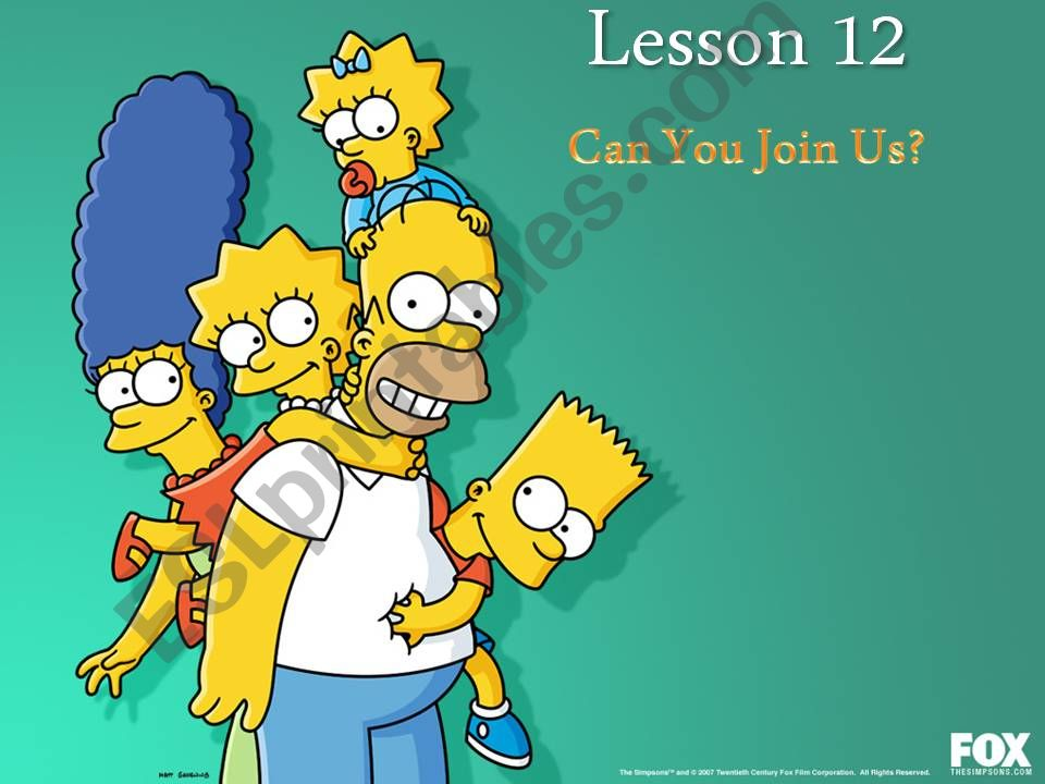 PART 1 of 3: We are going (shopping). Can you join us? Simpsons