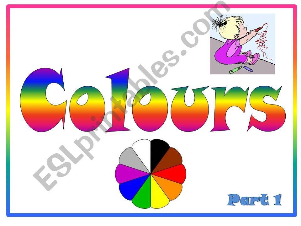 Colours Part 1 powerpoint