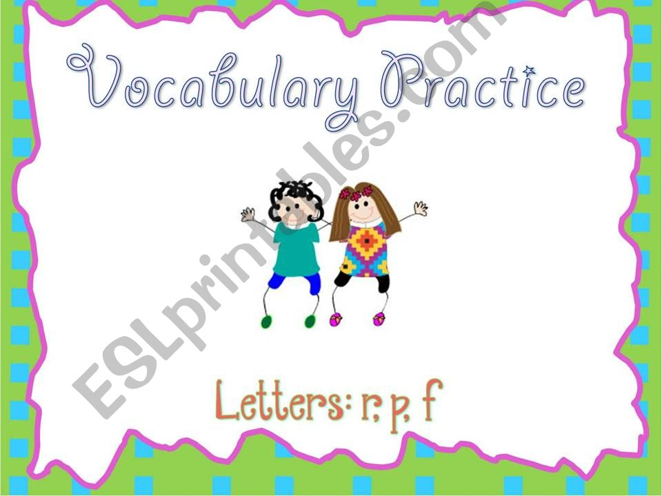 a smart board activity - practicing vocabulary