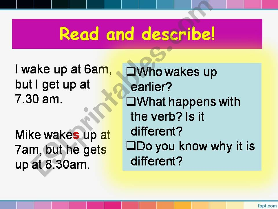 Simple Present_routines_part2 powerpoint