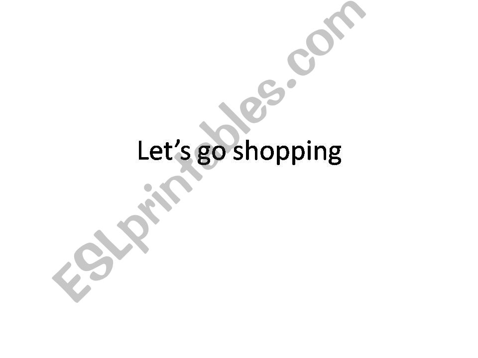 Let´s go shopping powerpoint