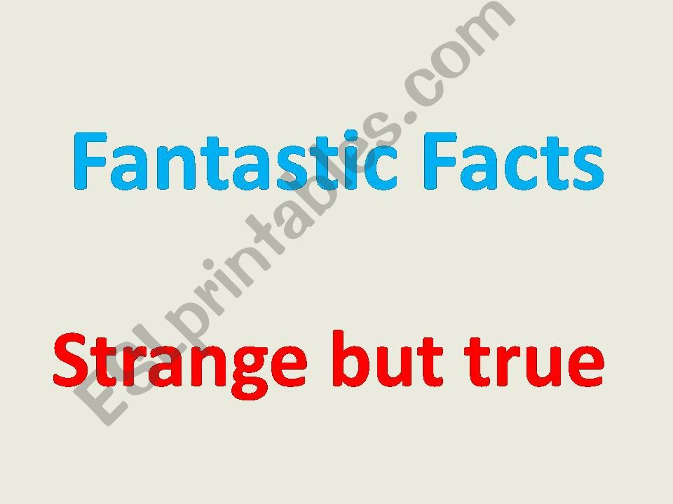 fantastic facts powerpoint