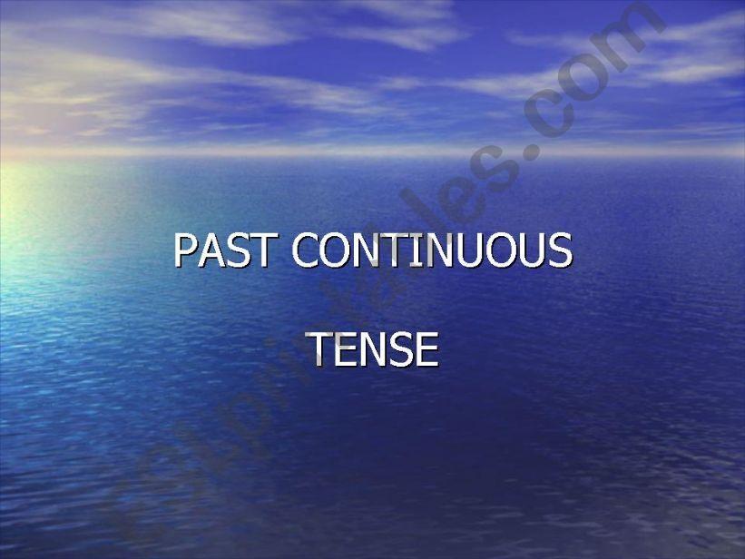 past continuous tense powerpoint