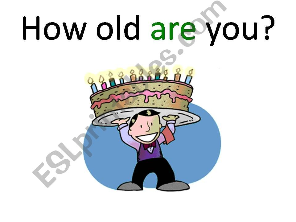 How old are you? powerpoint