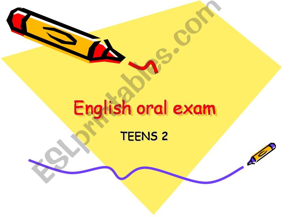 English oral exam for Kids  powerpoint