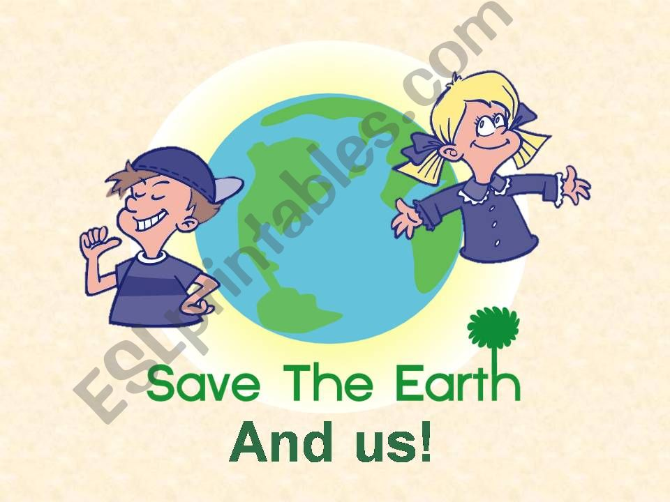 Saving Earth And Our Wellbeing