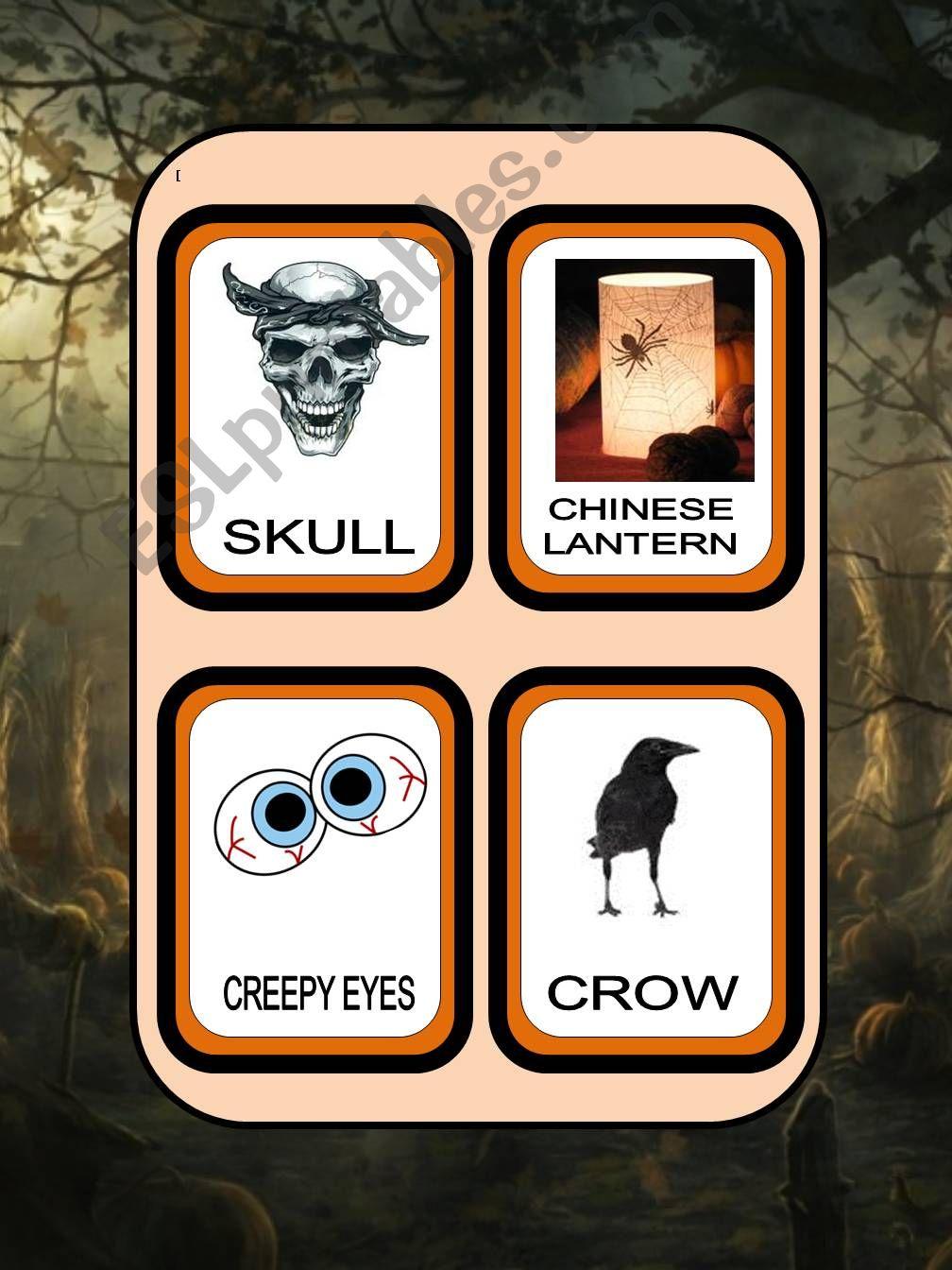 Halloween flash cards part 2 powerpoint