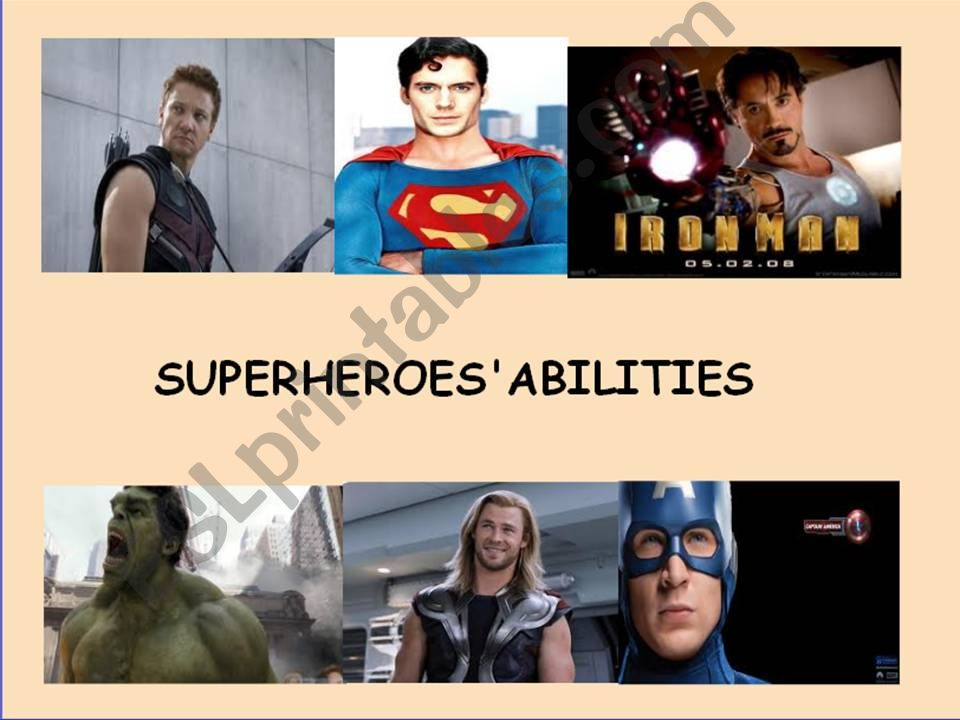 Practicing abilities (can/can´t) - Superheroes