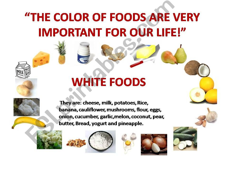 The Foods Are Importante For Your Life!