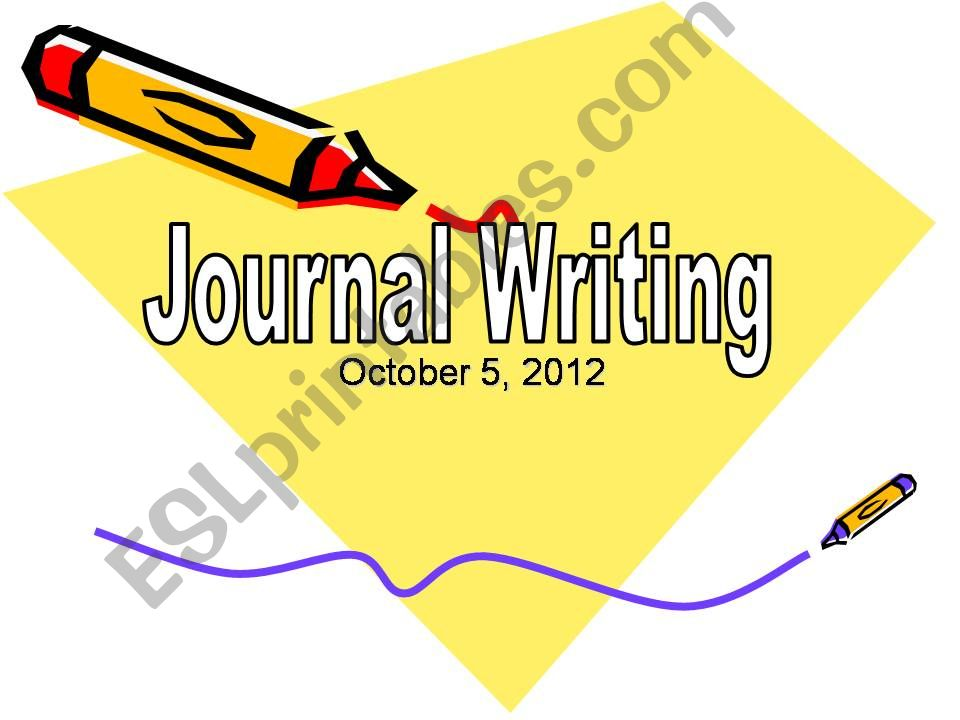 Journal Writing Workshop powerpoint