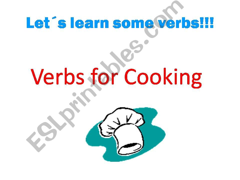 Verbs for cooking powerpoint