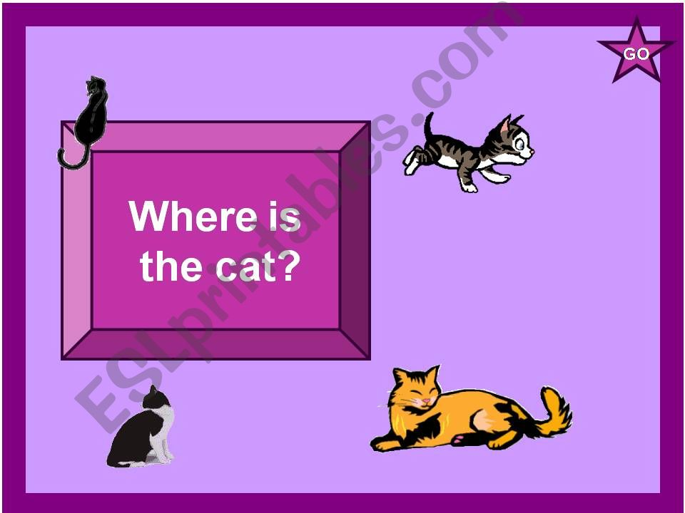 Where is the Cat? powerpoint