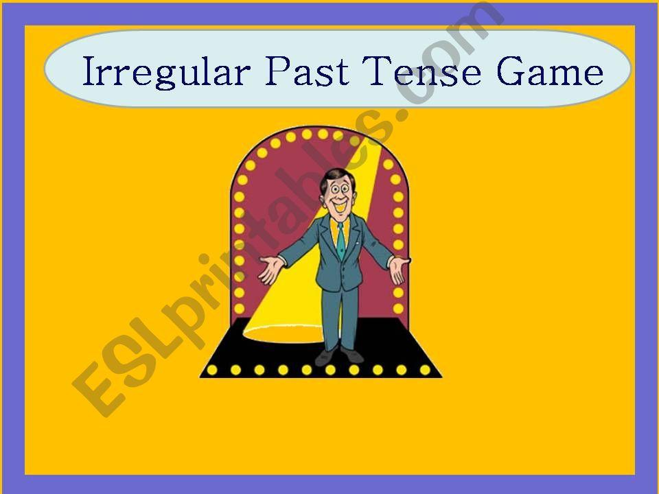 Irregular Past Tense Game Part 1