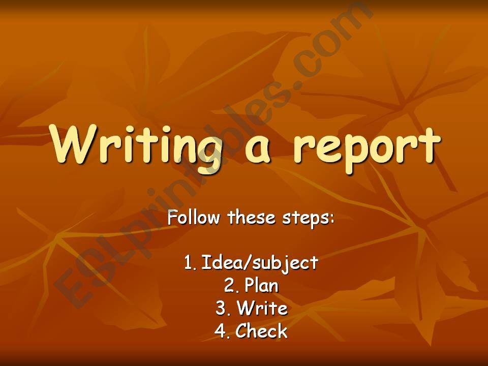 Writing a report comparing something