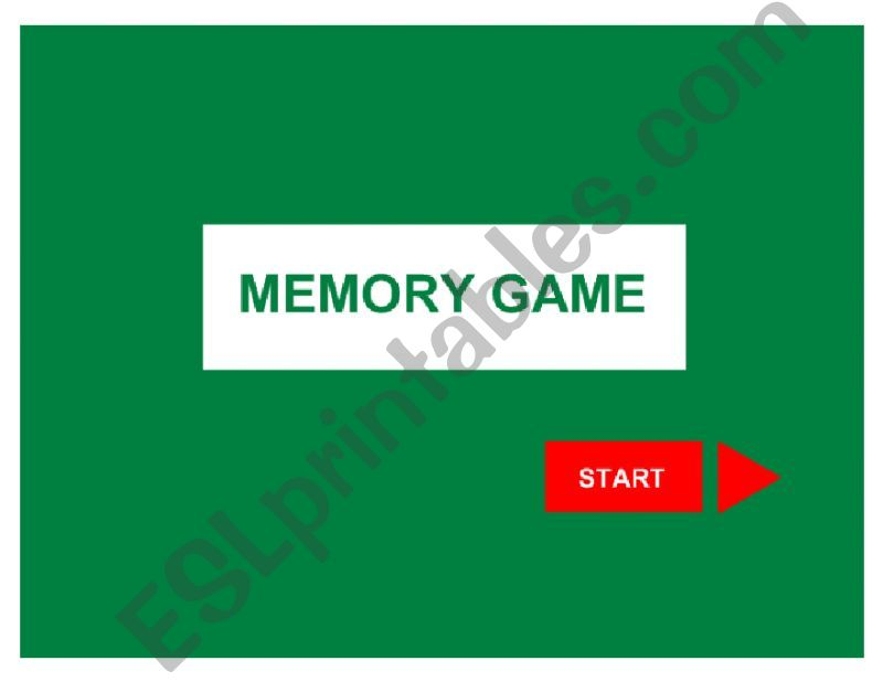 Memory game powerpoint