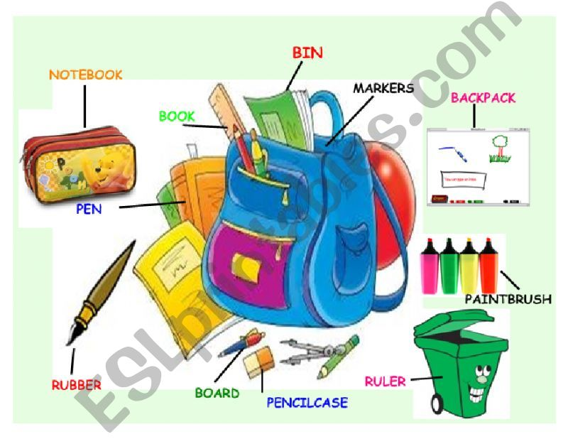 SCHOOL OBJECTS AND THERE IS/ARE