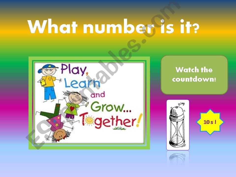 Numbers 1-99 / Game powerpoint
