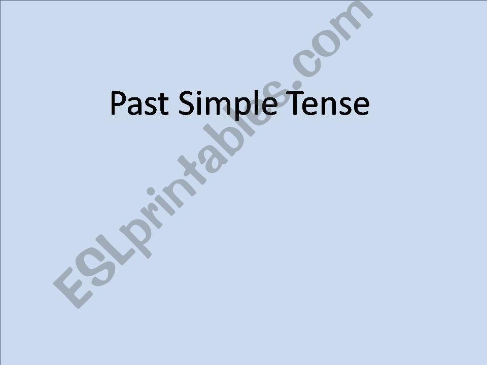Past Tense powerpoint