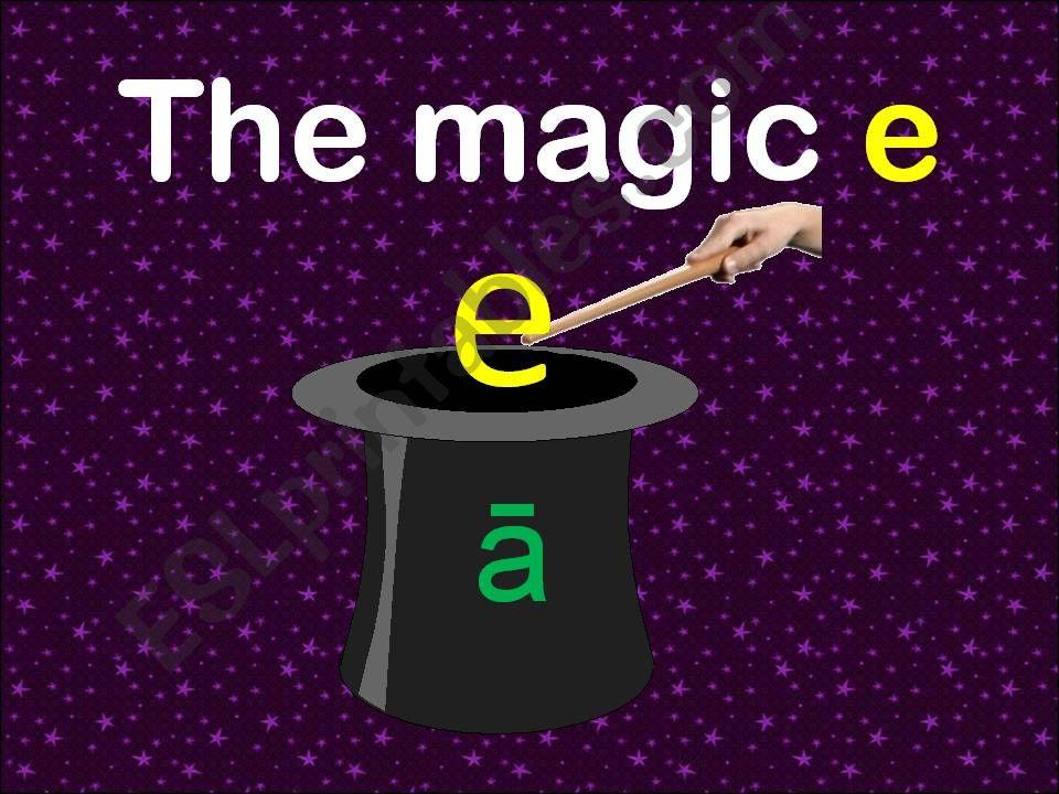 Magic E , Silent E,  Bossy E with short a