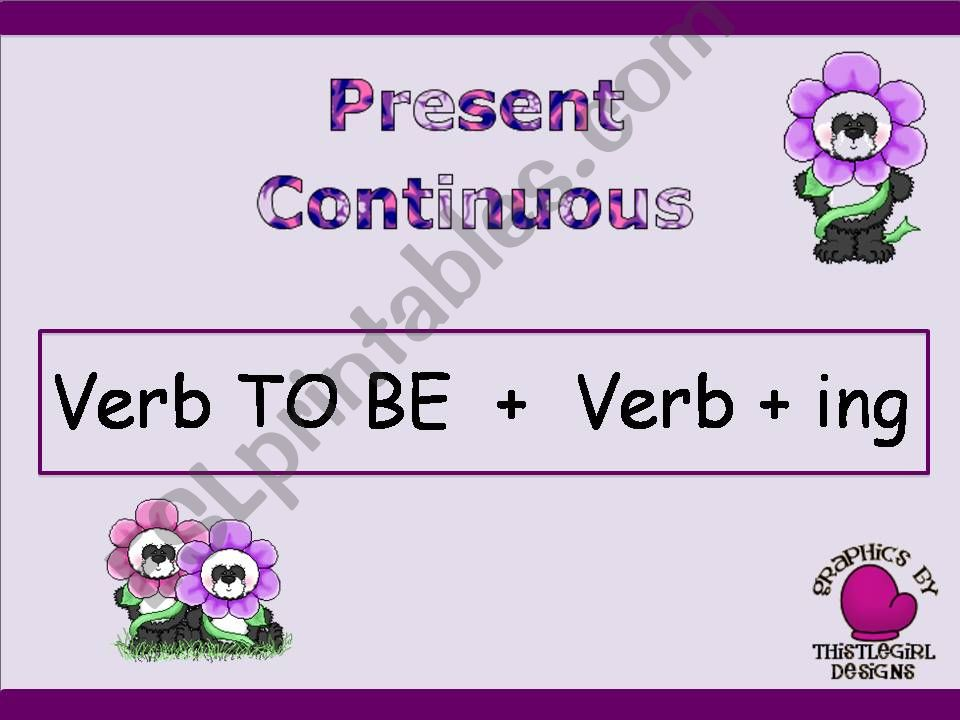 Introducing Present Continuous