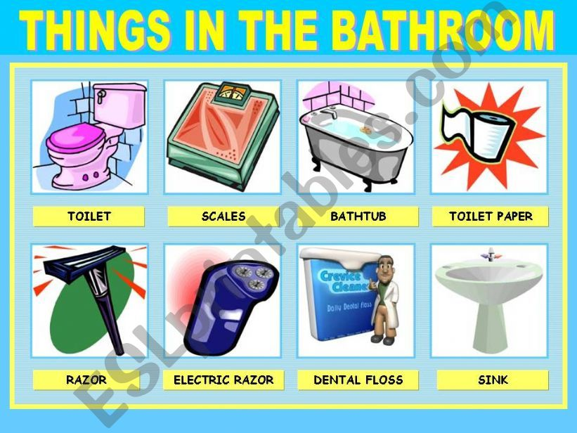 Esl English Powerpoints Things In The Bathroom 1 2