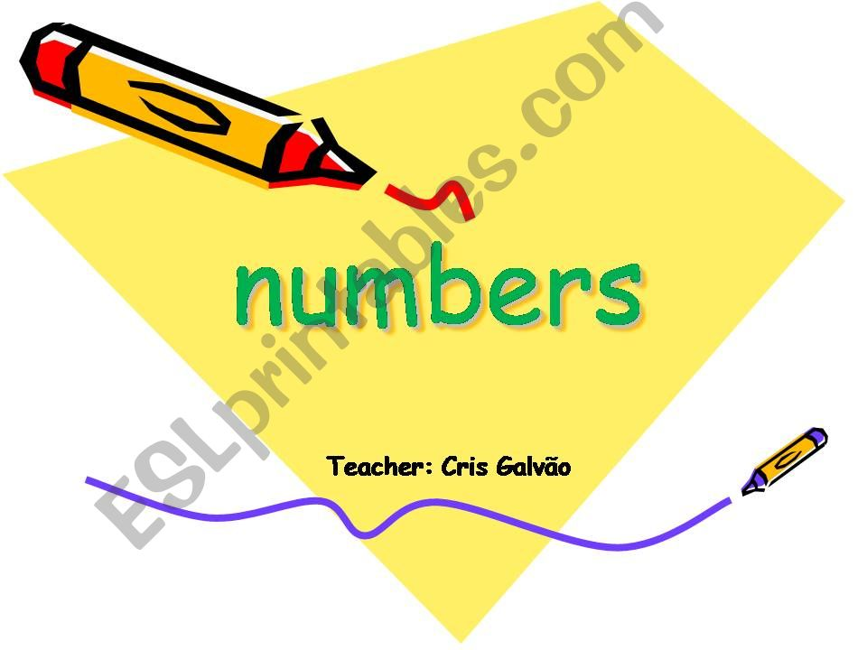 Numbers for adult students -explanation and exercise