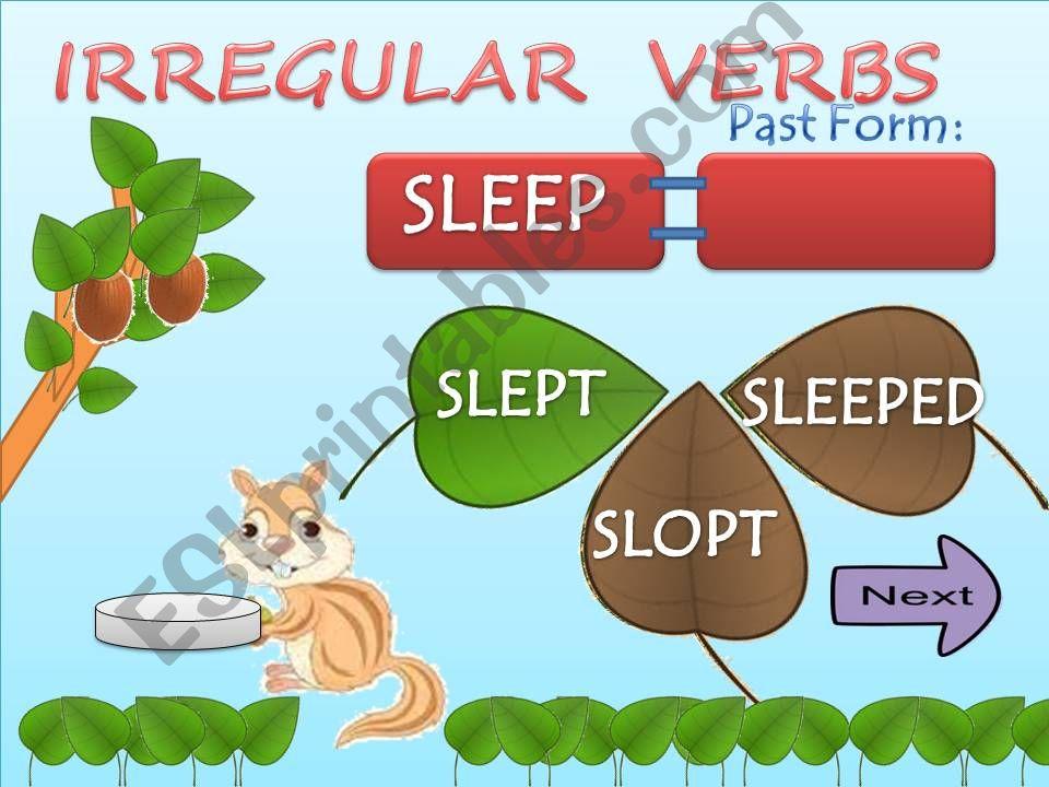 Irregular verbs part 1 powerpoint