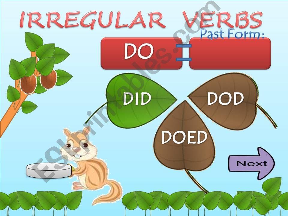 Irregular verbs part 2 powerpoint