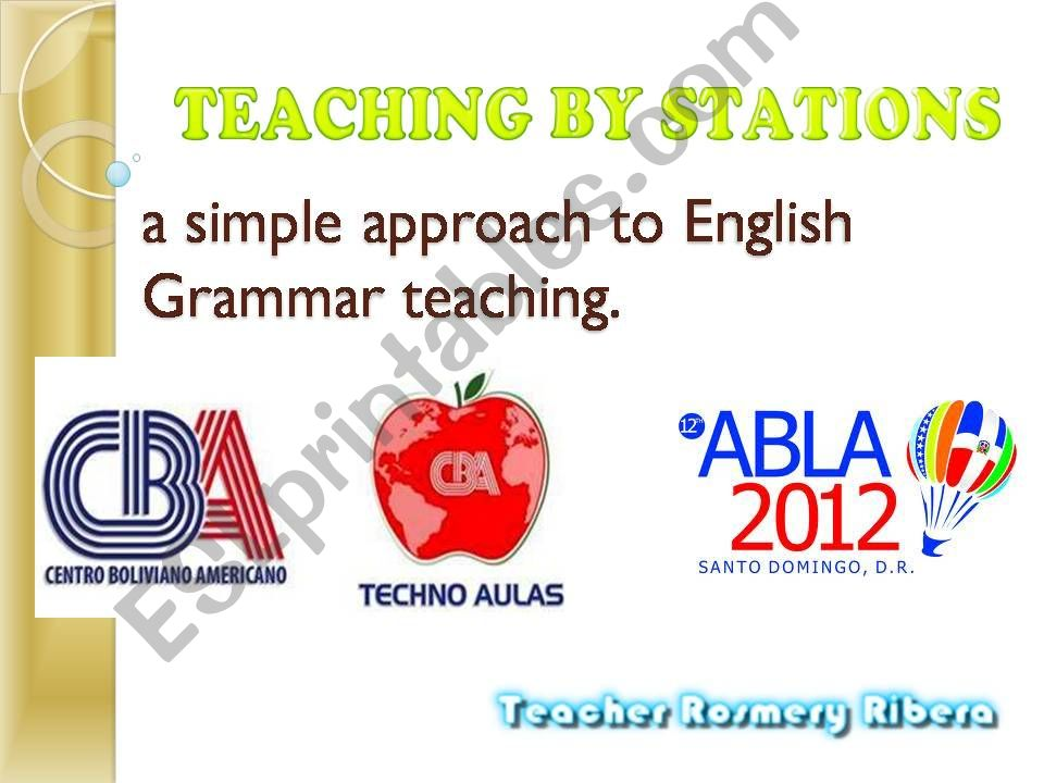 TEACHING BY STATIONS a simple approach to grammar