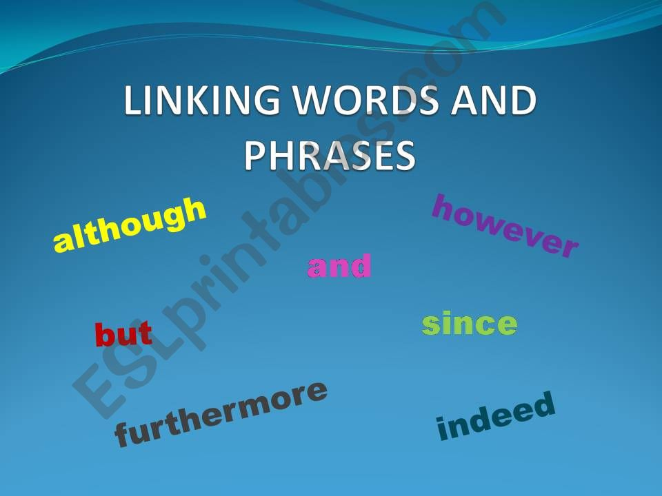 Linking words powerpoint