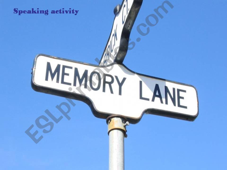 MEMORY LANE powerpoint
