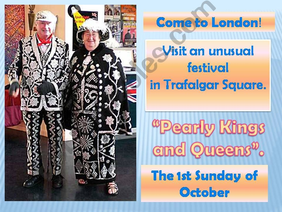 London festivals: Pearly kings and queens