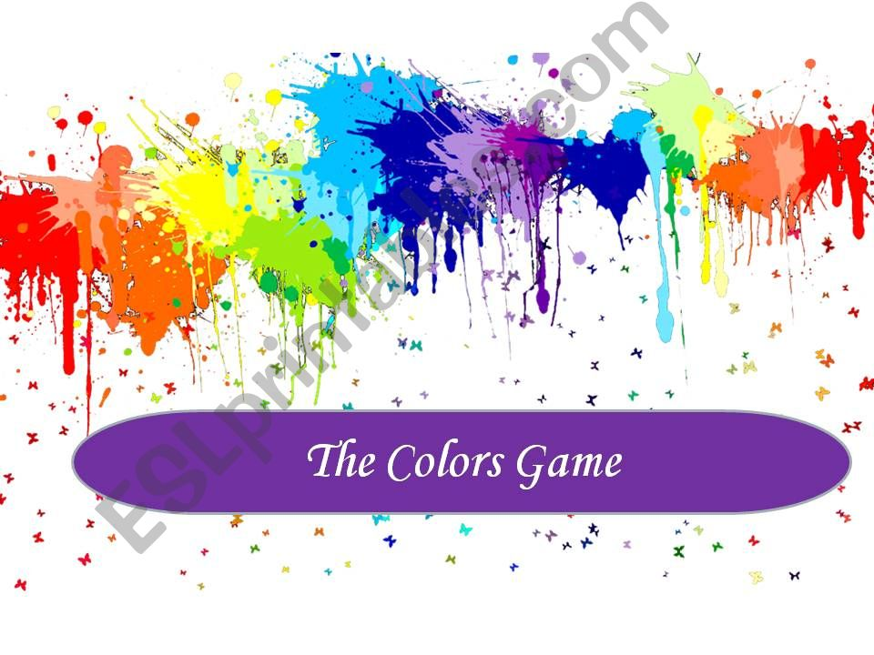 Colors Game 1 powerpoint