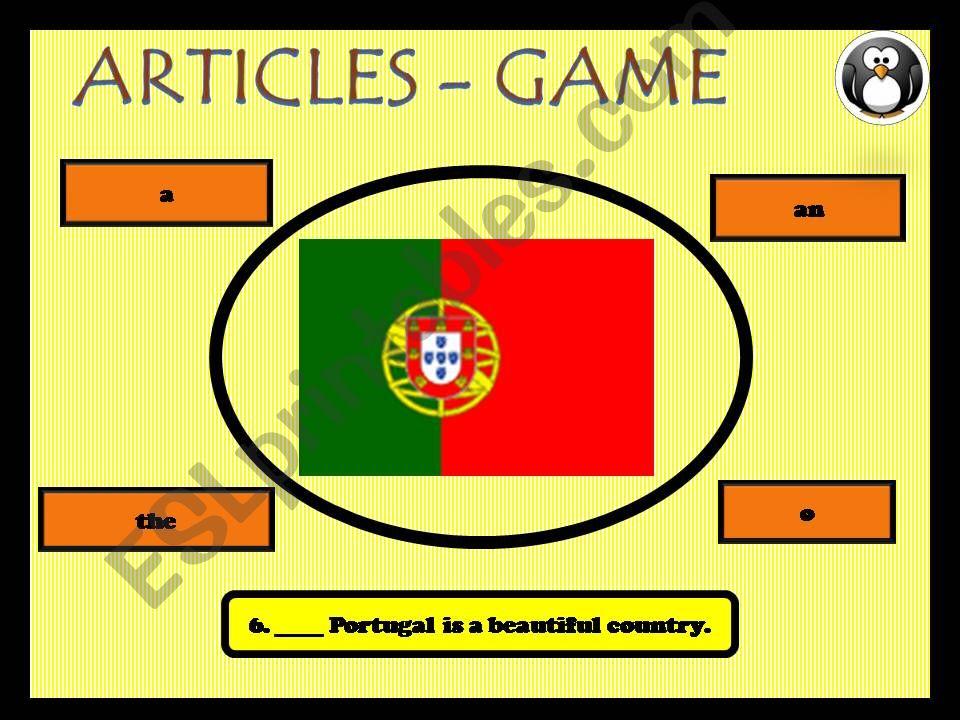 Definite, indefinite and zero articles - game 2 (4)
