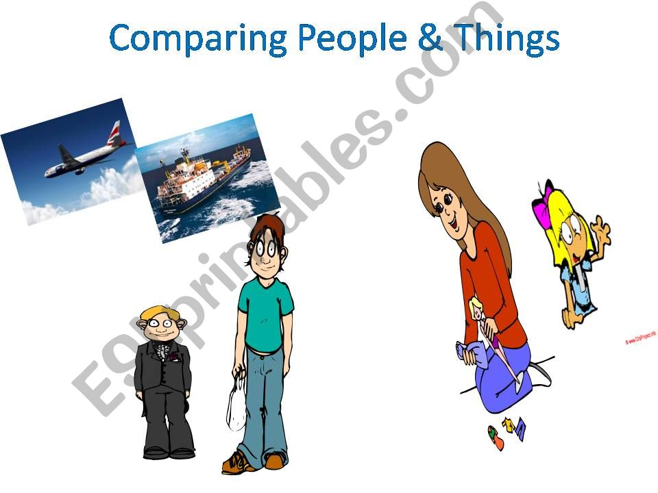 Comparing People and Things powerpoint
