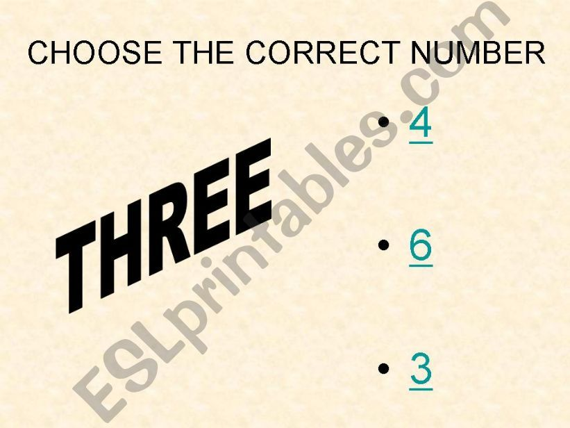 Game: Choose the correct number