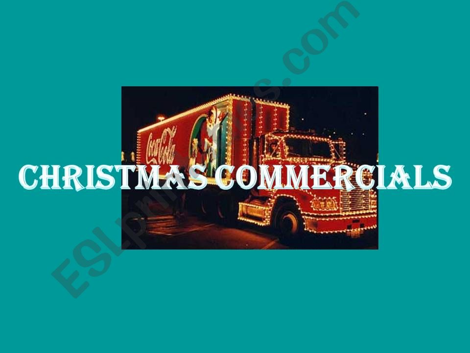 Christmas Commercials powerpoint