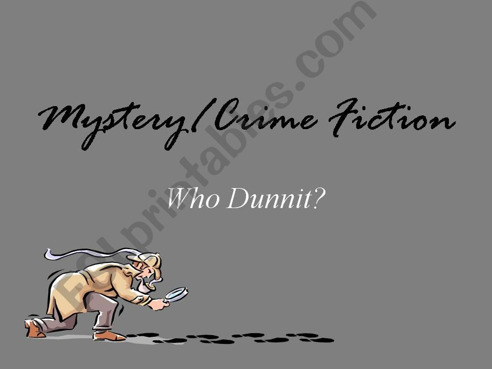 Mystery Unit powerpoint