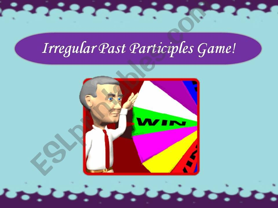 Irregular Past Participles Game